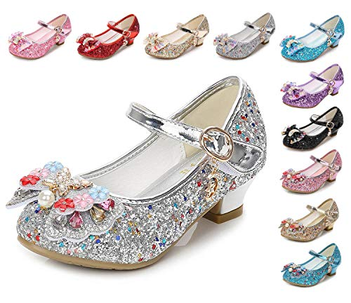 Kinkie Little Girls Ballet Mary Jane Flats Sparkle