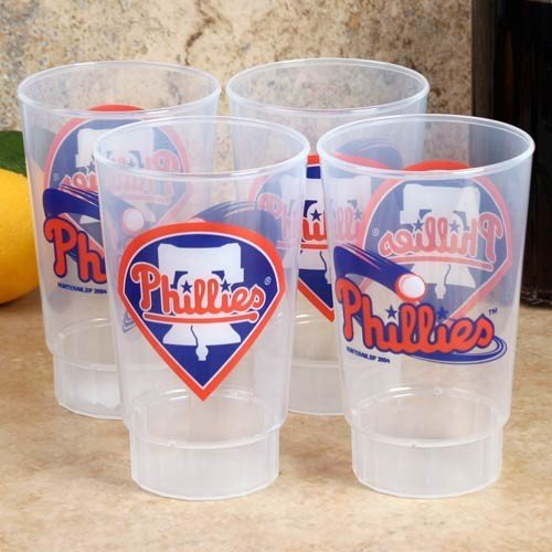 - MLB Philadelphia Phillies Plastic Tumbler (Pack of 4), 16 oz., White