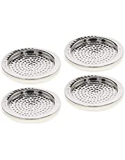 """Hosley's Set of 4 Pillar Holders-4.25"""" Diameter. Ideal for Candle Gardens, Spa, and Aromatherapy, Incense Cones. O5"""