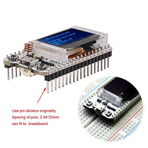 MakerFocus ESP32 Development Board WIFI Bluetooth LoRa Dual Core 240MHz CP2102 with 0.96inch OLED Display and 868/915MHZ Antenna for Arduino by MakerFocus (Image #3)
