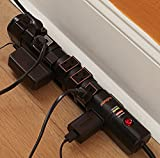 ECHOGEAR 8 Outlet Rotating-Plug Surge Protector With Built-In Cable Management, Flat Plug & Fireproof Technology - 2160 Joules of Surge Protection - Expand Your Outlet Capacity & Keep Your Gear Safe