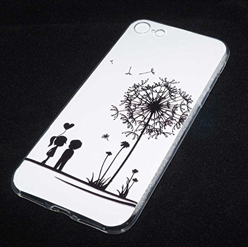 Ultra Slim TPU Silikon Case Handy Tasche für Apple iPhone 7 Hülle Etui love