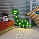 DELICORE Super Cute Dinosaur LED Night Light, Childen Kids Bedroom Decorative Table Lamps, Marquee Animal Sign, Gift for all Dinosaur Lovers! (Dinosaur - Green)
