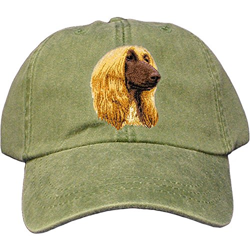 Cherrybrook Dog Breed Embroidered Adams Cotton Twill Caps - Spruce - Afghan Hound