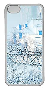 iPhone 5c Case Unique Cool iPhone 5c PC Transparent Cases Church In Winter Design Your Own iPhone 5c Case by lolosakes