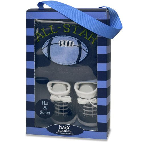 Baby Essentials Boys Cap and Sock Set - All (All Star Keepsake Box)