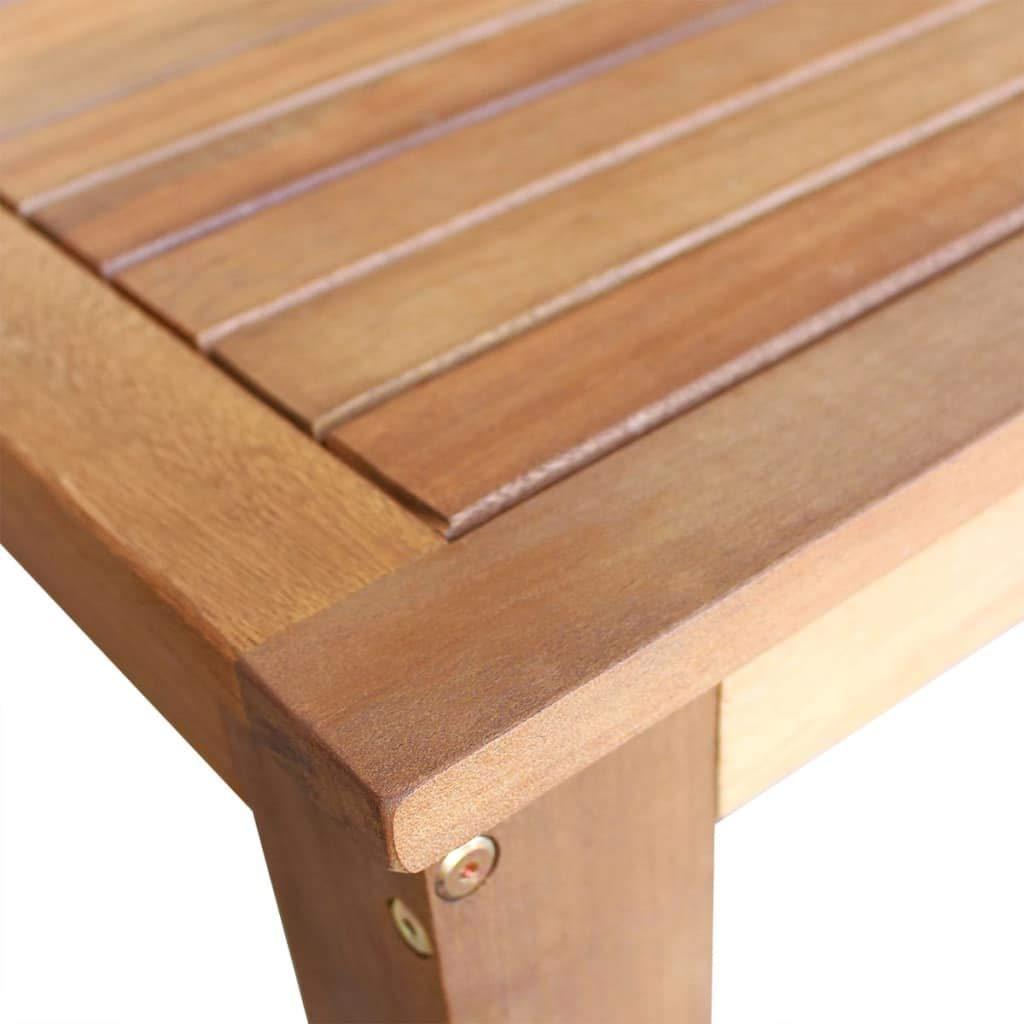 mewmewcat Holz Bartisch Stehtisch Massives Akazienholz K/üchenbartisch Holztisch Esszimmertisch Bistrotisch 120 x 60 x 105 cm
