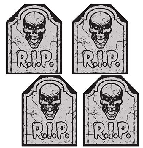 Nikki's Knick Knacks Set of 4 Halloween Skeleton Tombstone Chair Covers