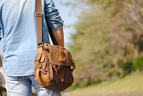 Carteras ocasionales brown de para viaje para negocios Vintage Bolsas Lona hombres hombro para de Bolsos Crazy BAO hombres Bolsos computadora para Horseskin Bolsas wBRgHHYx
