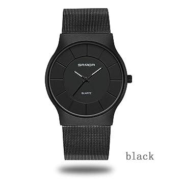 iBaste-ES Reloj de Pulsera de Lujo Reloj de Vidrio Impermeable Negocio Digital Impermeable Niños