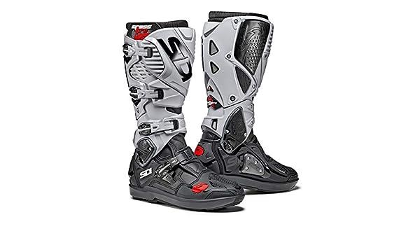 d3935eeb4ee4f Amazon.com  Sidi Crossfire 2 SRS CE Black Grey Motocross Enduro Boots Size  EC 44  Automotive
