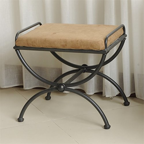 Vanity Stool with Microsuede Cushion (Vanity Benches And Stools)