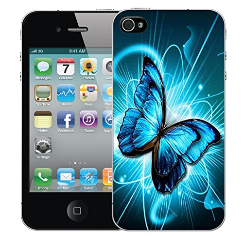 Mobile Case Mate iPhone 5s Silicone Coque couverture case cover Pare-chocs + STYLET - Futuristic Butterfly pattern (SILICON)