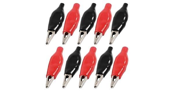 eDealMax aislante cubierto pinzas de prueba Sonda de cocodrilo, DE 37 mm, Negro/Rojo: Amazon.com: Industrial & Scientific