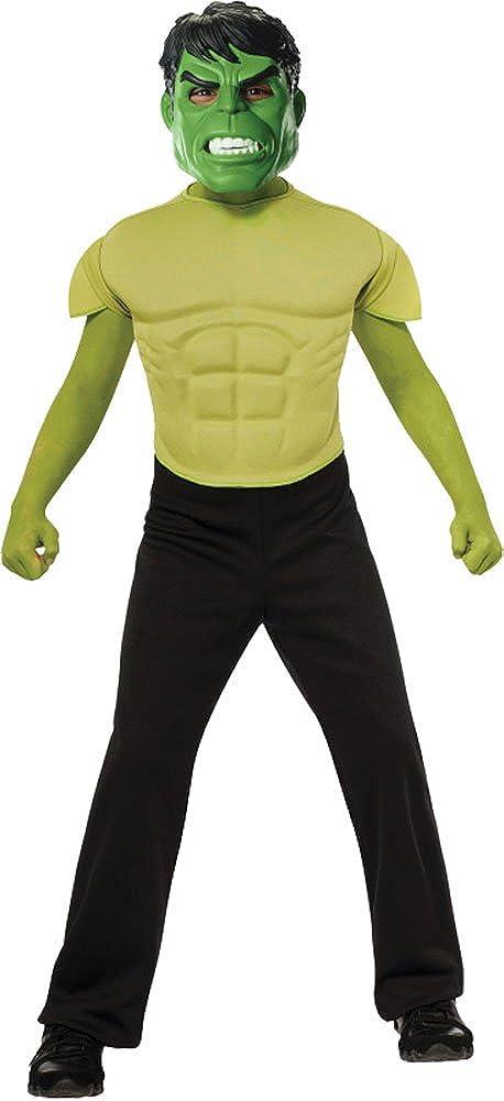 Boysハロウィンcostume-hulkシャツ&マスクキッズコスチューム大8 – 10   B075J2KDM2
