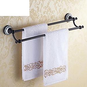 70%OFF European all-copper towel bar/bathroom Towel rack/double Towel rack/black bronze Towel Bar/Antique bathroom Towel Bar-A