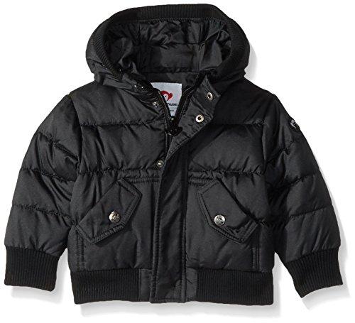 Appaman Boys' Puffy Coat, Black, 3/6 Months