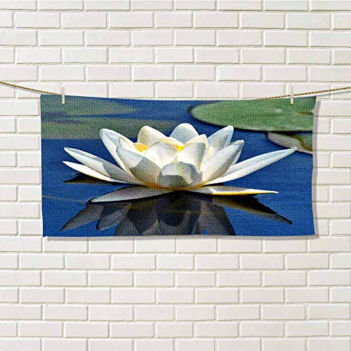 wwwhsl Couples Towel Beautiful White Lily Light Carrying Belt W20xL40 Inch