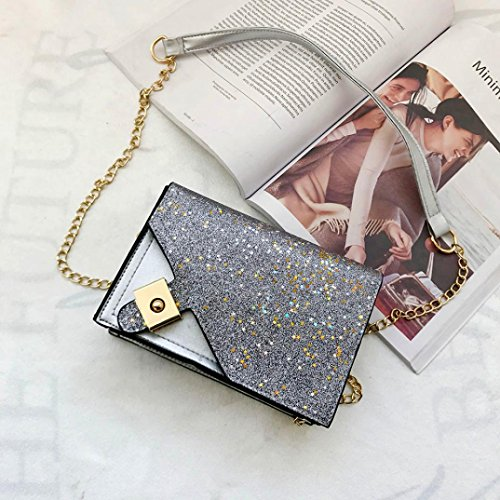 Bag Bag Sliver Fashion Night Crossbody Sequins Party Out Bag Stars Girl Club Ladies Gift Women Evening Shoulder Padlock qSw5xAAp