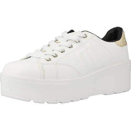 Mustang - Zapatillas Action Woman Blanco-Altura Plataforma: 5cm- - 69776 - Talla 41: Amazon.es: Zapatos y complementos