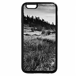 iPhone 6S Plus Case, iPhone 6 Plus Case (Black & White) - trail in the glen at sunset