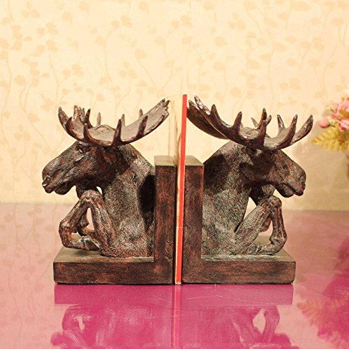 W&P French creative resin bookends home living room decorative ornaments for wealth in the study and practical gifts , 152121/152121
