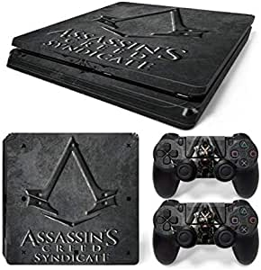 For Sony Playstation 4 Slim personality Console Decal Skin Stickers with 2 Pcs Stickers For PS4 Slim Controller