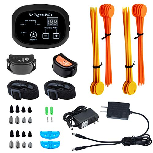 Dr.Tiger 1 Receiver Electric Dog Fence, Invisible Fence for Dogs, Collar Send Beeps and Shock Correction, Dark, 650 Feet by Dr.Tiger (Image #5)