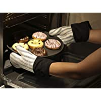 Jujudada Silicone Oven Mitts Heat Resistant Kitchen Oven Gloves for BBQ Cooking Baking Grilling Barbecue Microwave…