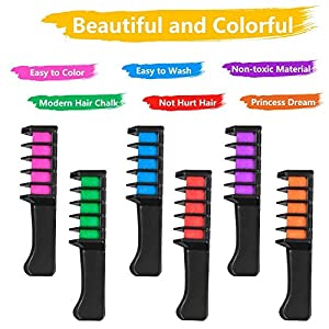 BATTOP 6PCS Hair Chalk Comb Te...
