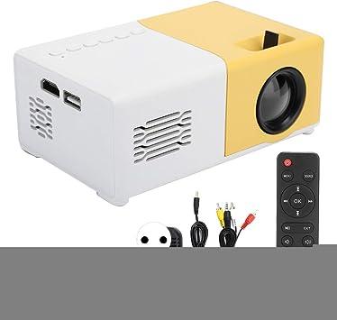 Opinión sobre Proyector de Video LED, Proyector de Video portátil para Juegos en el hogar LCD de Alta resolución 1080P, Compatible con Puertos HDMI, AV, USB y para Tarjetas de Memoria(Blanco Amarillo)