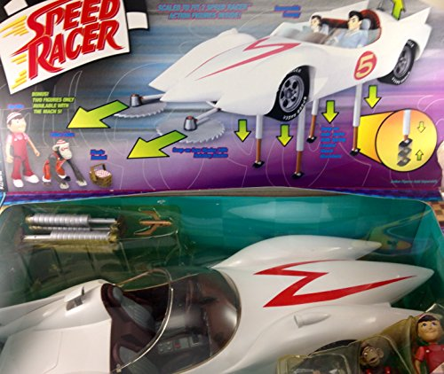 Speed Racer Mach V Playset with Exclusive Spridle & Chim Chim Figures