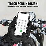 Unigear Gants Moto Homologué CE, Gants Scooter Unisexe Mi Saison Ecran Tactile Respirable pour Auto Moto, Vélo… 9