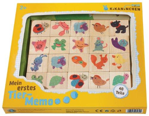 Eichhorn 109463234 - Kikaninchen Bilder-Memo-Spiel - 40 Teile mit 20 Motiven - Buchenholz