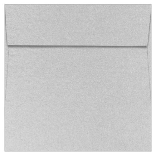 - 7 1/2 x 7 1/2 Silver Metallic Square Envelopes, Stardream 81lb, 25 pack