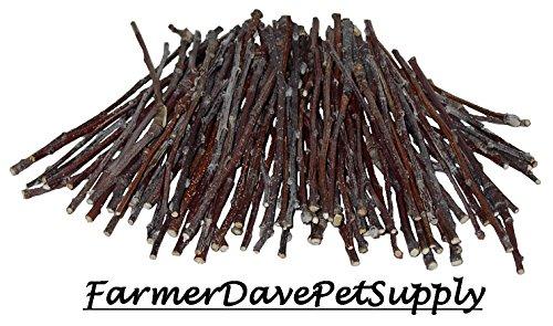FarmerDavePetSupply 100 Apple Ultra Skinny Chew Twigs for Small Animals