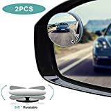 Automotive : Blind Spot Mirrors, HD Glass Convex Rear View Mirror with Adjustable Wide Angle Driver Side Mirror And Passenger Side Mirrors for All Car Mirrors, Pack of 2