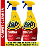 Zep High Traffic Carpet Cleaner 32 Ounce (Pack of 2) Make high Traffic Areas Look New Again