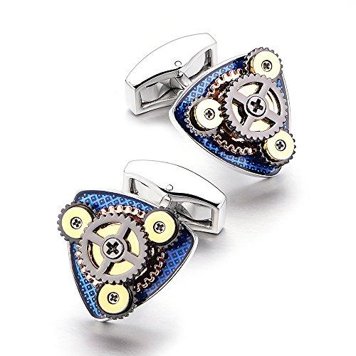 Merit Ocean Sterling Silver Movement Cufflinks Watch Cuff Links Business Wedding Gifts by Merit Ocean