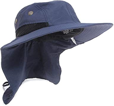 Outdoor UV Protection Ear Flap Neck Cover Sun Hat Cap Fishing Hunting Hiking