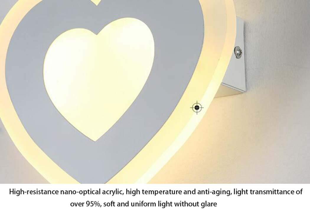 Lámpara De Llevó Wshz La Dormitorio Pa Del Iluminación Rojo I76yfYbgv