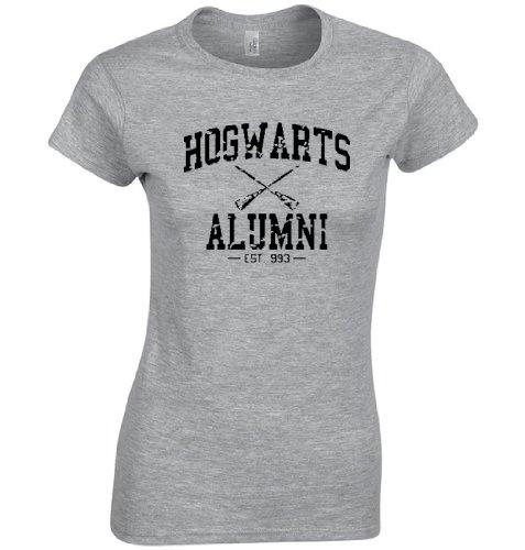 Hogwarts Alumni Shirt Harry Potter Womens Shirt (XL, Heather Gray)