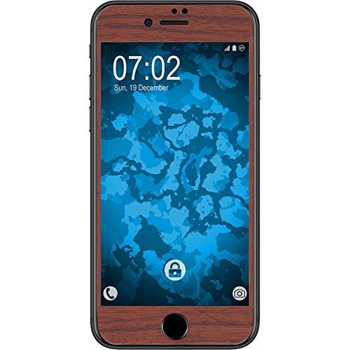 1 x Apple iPhone 7 / 8 Pellicola Protettiva effetto legno marrone - PhoneNatic Pellicole Protettive