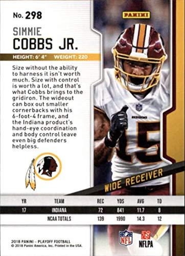 d7bdf610a Amazon.com  2018 Panini Playoff 1st Down  298 Simmie Cobbs Jr. RC Rookie  99  Washington Redskins NFL Football Trading Card  Collectibles   Fine Art