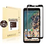 [2 Pack] Google Pixel 2 XL Tempered Glass Screen Protector, Linboll - HD Ultra-clear, 3D Coverage,9H Hardness, Anti-Scratch, Bubble Free, Screen Protectors For Google Pixel 2 XL - Black