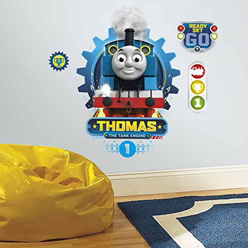 Rooa7|#Roommates RMK3245GM Thomas The Tank Engine Peel and Stick Wall Decals,