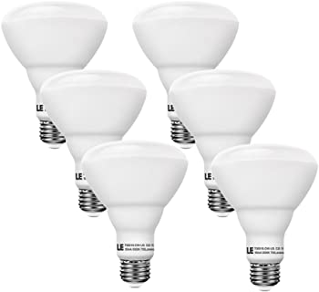 6-Pack LE 65W Equiv Dimmable BR30 Daylight White LED Bulbs
