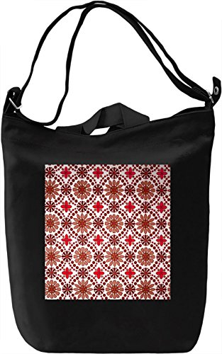 Brown and Red Flowers Texture Borsa Giornaliera Canvas Canvas Day Bag| 100% Premium Cotton Canvas| DTG Printing|