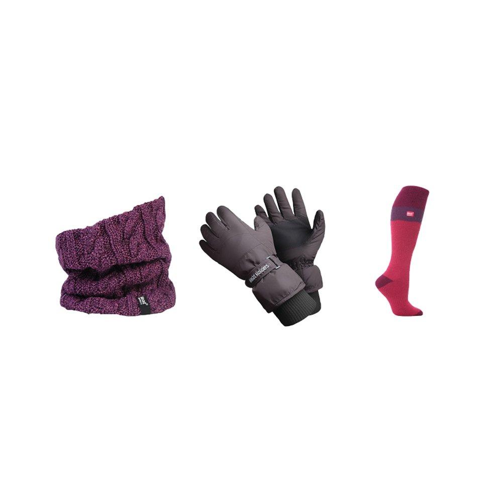Heat Holders - Femme accessoires de ski Set y compris les gants de ski Chaussettes de ski et cache-cou
