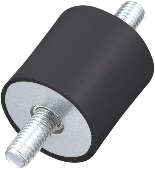 Sourcingmap Aislador de vibraciones de goma con tacos M3 M4 M5 y aislador de goma antivibraci/ón